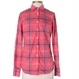 J. Crew Factory Plaid Perfect Fit Button Down XS C